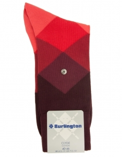 Clyde Argyle Sock - Red