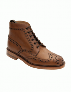 Cogswell Brogue Boot - Brown Grain Leather