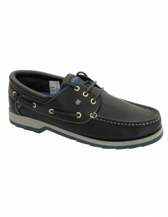 Commander Padded Collar Luxury Boat Shoes - Navy
