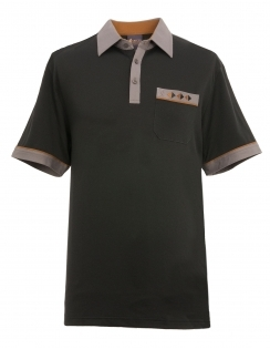 Contrasting Jersey Shirt - Black