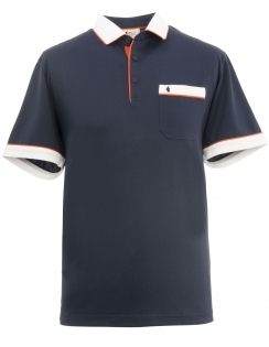 Contrasting Jersey Shirt - Navy