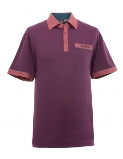 Contrasting Jersey Shirt - Sloeberry