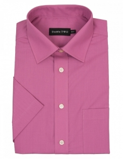 Cotton Rich Non Iron Half Sleeve - Dusky Pink