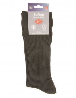 Cotton Softop Sock - Charcoal