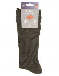 Cotton Softop Sock - Olive