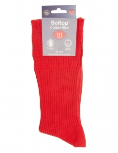 Cotton Softop Sock - Red