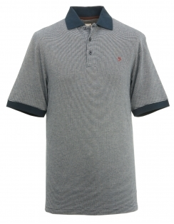Cove Fine Stripe Polo Shirt - True Navy