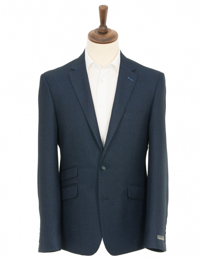 Daniel Grahame Dale Diamond Check Jacket - Blue