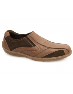 Dale Leather Slip On Shoe - Brown