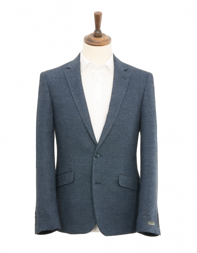 Daniel Grahame Dale Textured Jacket - Blue