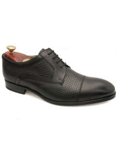 Deene Calf Weave Derby Lace - Black