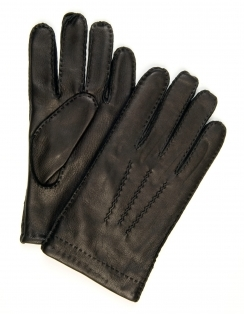 Deer Nappa Leather Gloves - Black