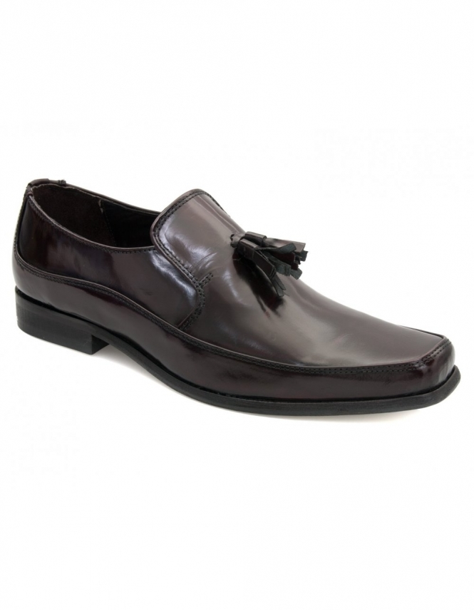 Maybury Dock Bordo Polished Tassle Loafer