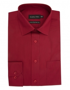 Double Two Cotton Rich Long Sleeve - Cherry