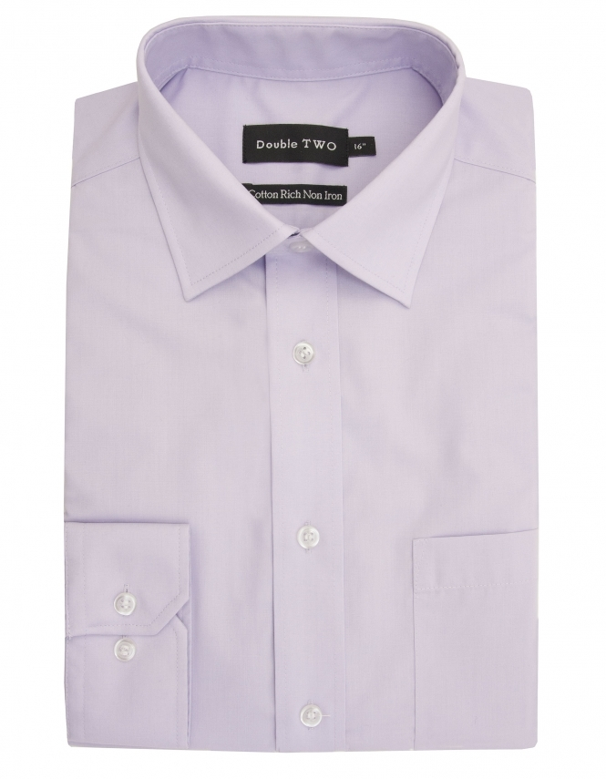 Double Two Cotton Rich Long Sleeve Lilac