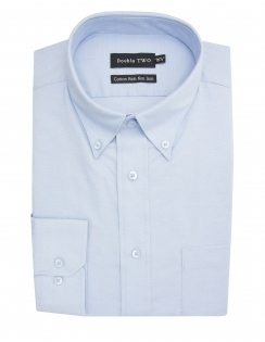 Double Two Oxford Button Down - Blue