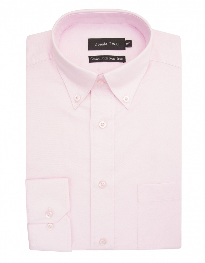 Double Two Oxford Button Down - Pink