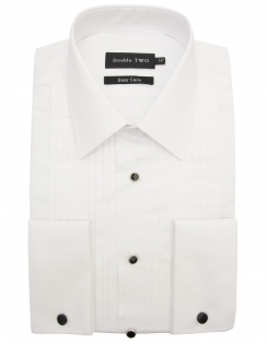 Stitch Pleat Dress Shirt with Classic Collar