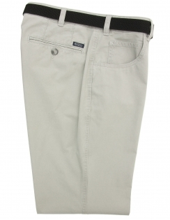 Dover Belted Cotton Chino With Stretch Waistband - Grey