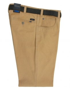 Dover Cotton Chino With Stretch Waistband - Maize