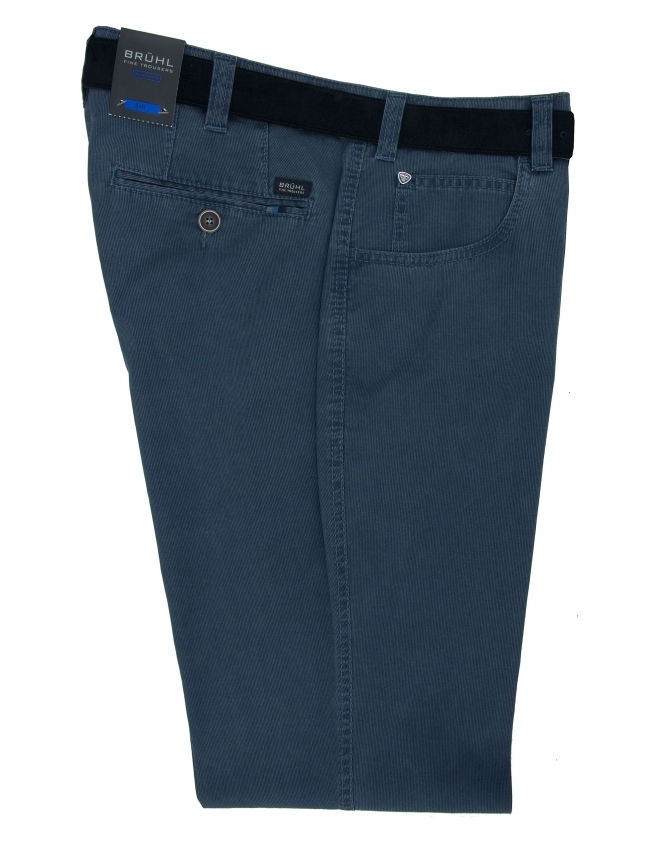 Bruhl Dover Cotton Chino With Stretch Waistband - Marine