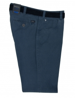 Dover Cotton Chino With Stretch Waistband - Marine