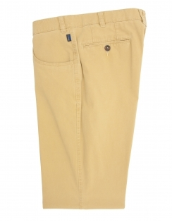 Dover Cotton Chino With Stretch Waistband - Ocher