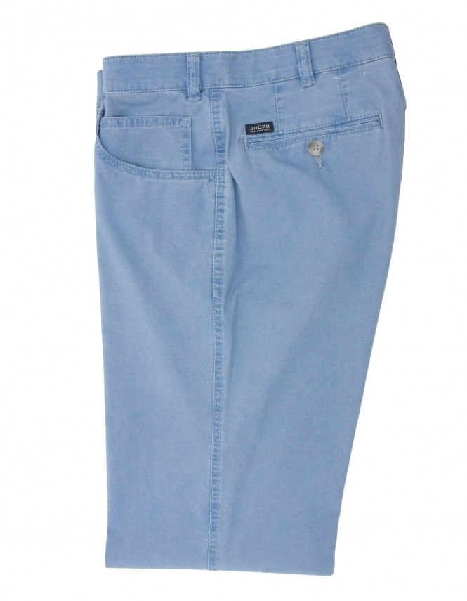 Bruhl Dover Cotton Chino With Stretch Waistband - Smoke Blue