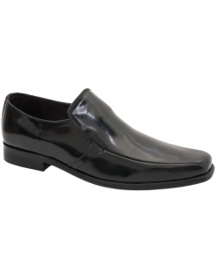 Doyle Leather Moccasins - Black