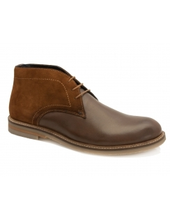 Duffy Leather & Suede Desert Boot - Brown