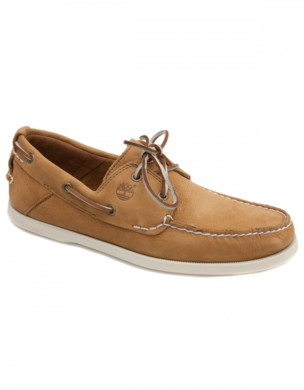 timberland heritage brown boat shoes