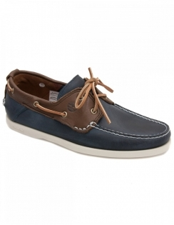 Earthkeeper Heritage 2 Eye Boat Shoe - Navy & Brown
