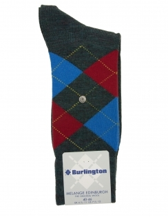 Edinburgh Melange Argyle Sock - Blue