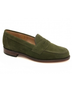 Eton Suede Saddle Loafer - Green Suede