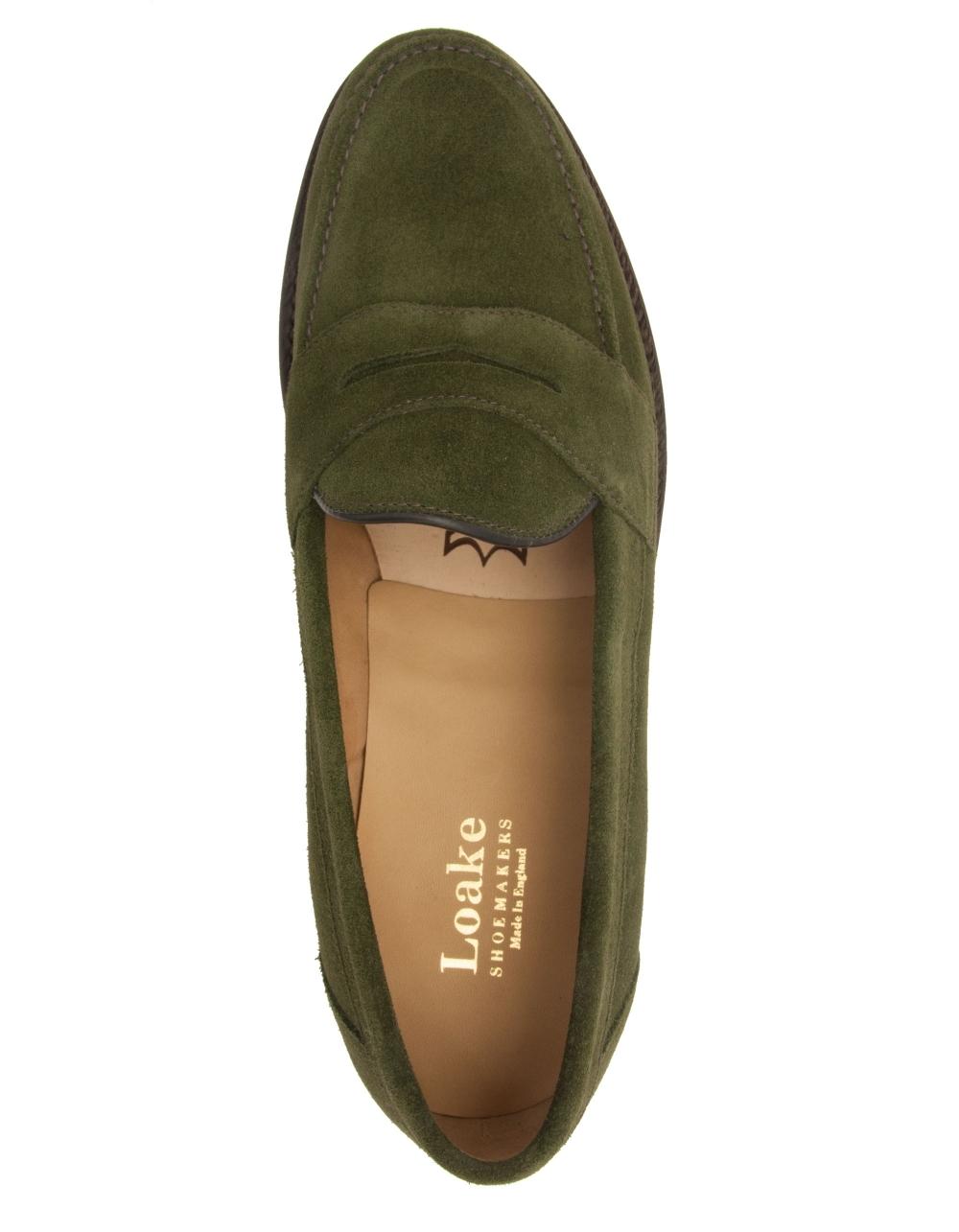 Eton Suede Saddle Loafer - Green Suede
