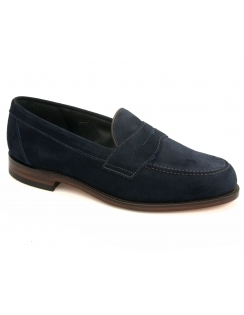 Eton Suede Saddle Loafer - Navy Suede