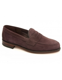 Eton Suede Saddle Loafer - Plum Suede