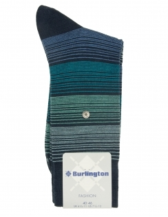 Fashion Prism Stripe Wool Rich Sock - Marine