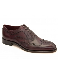 Fearnley Burnished Calf Oxford Brogues - Burgundy