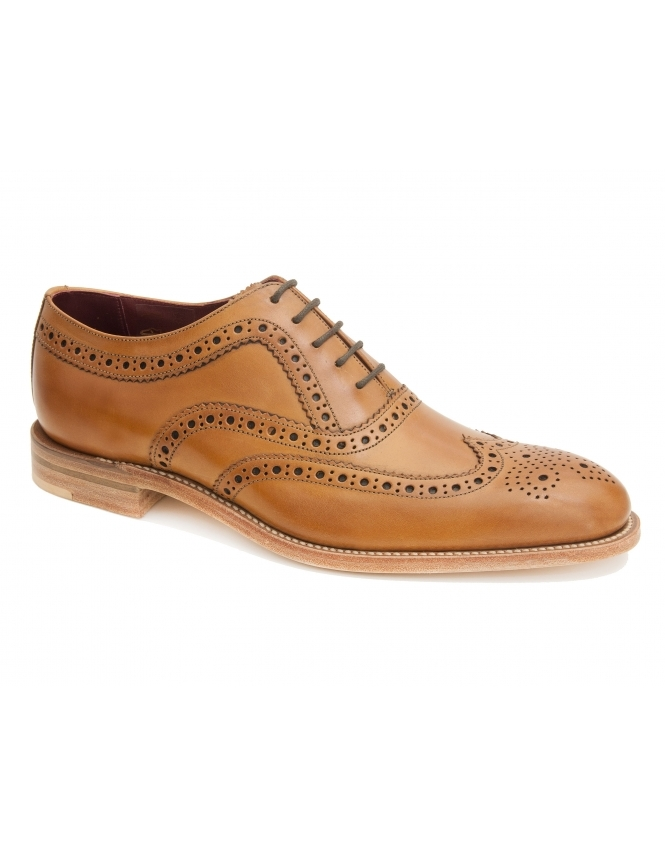 Loake Fearnley Tan Burnished Calf Oxford Brogues