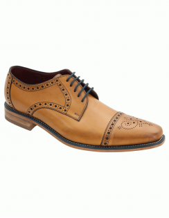 Foley Burnished Calf Lace formal Shoe - Tan
