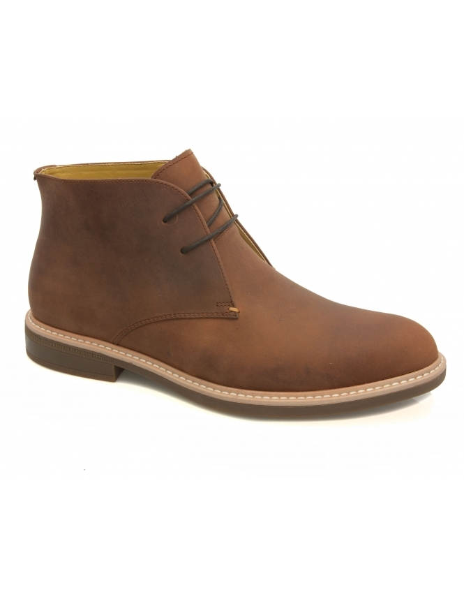 Steptronic Gloucester Crazy Horse Chukka Boot - Dark Tan