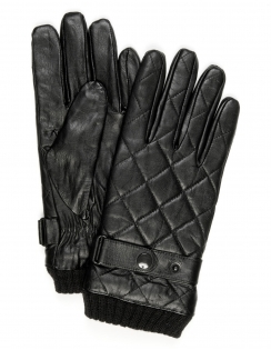 Goat Nappa Leather Glove - Black
