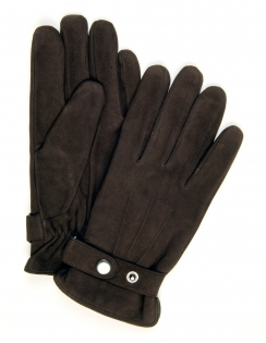 Goat Nappa Leather Glove - Brown