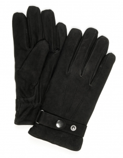 Goat Nubuck Leather Glove - Black