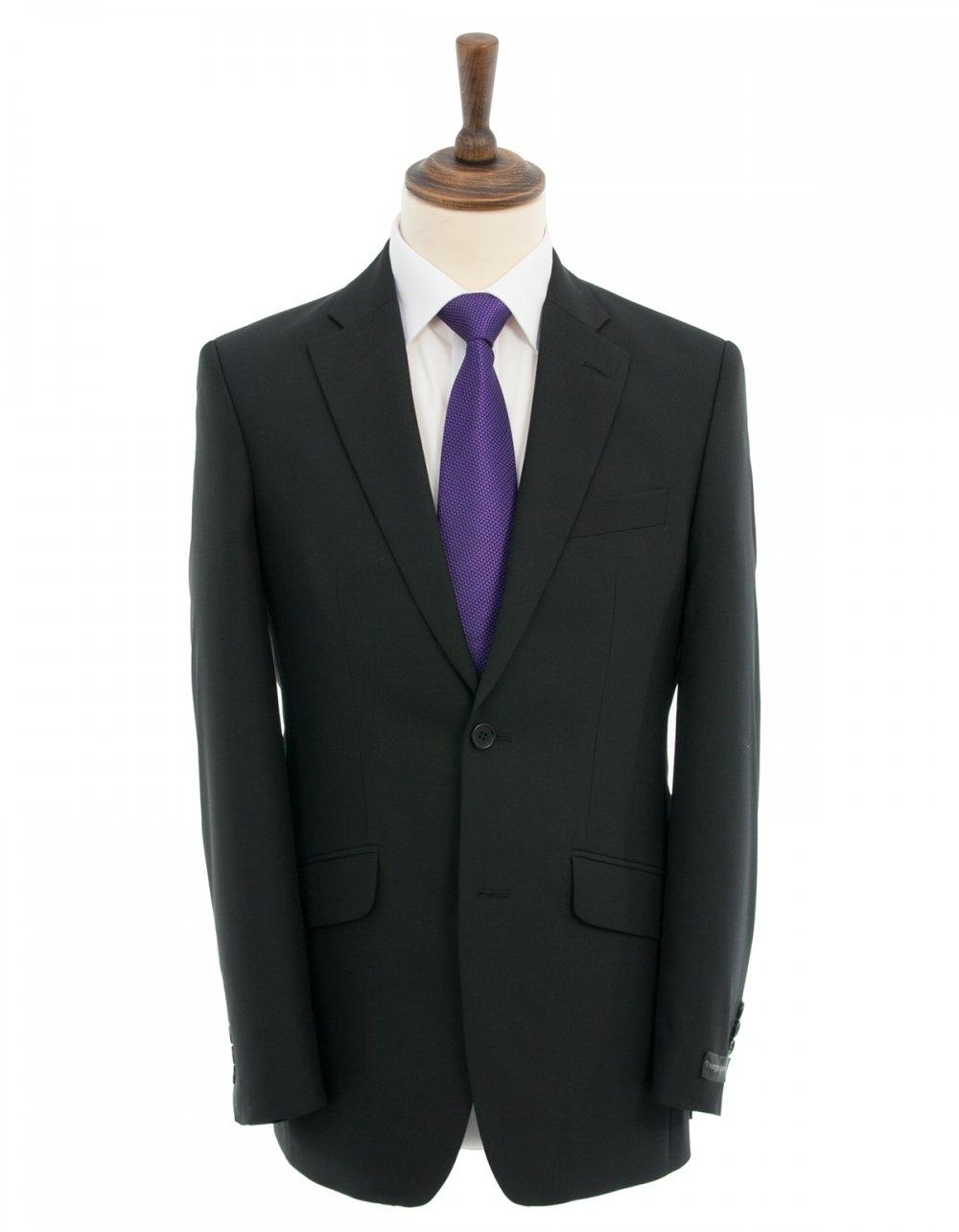 Hugo James Greiff Plain Black Suit