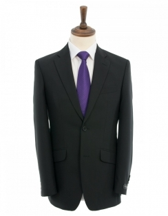 Greiff Plain Black Suit