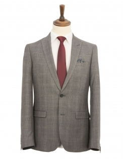 Grey Prince Of Wales Check 2 Piece Suit