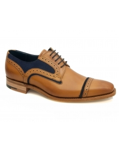 Haig Leather & Suede Toe Cap Derby - Cedar