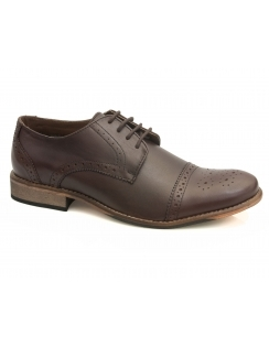 3e795e22c01f Hargreaves Toe Cap Oxford - Brown